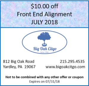 2018.07 $10 Off Front End Alignment