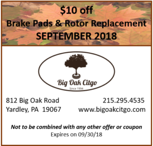 $10 off Brake Pads and Rotors