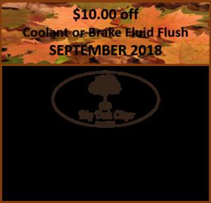 $10 off Coolant and Brake Fluid Flush