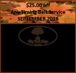 $25 off Timing Belt Service