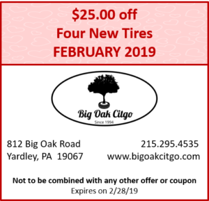 2019.02 $25 off tires