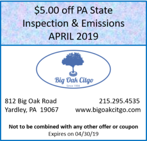 2019 April – $5 off Inspection